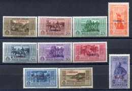 Z2086 ITALIA OCCUPAZIONI EGEO STAMPALIA 1932 Cinquantenario Garibaldino, Serie Ordinaria Completa, MH, Cat. Sassone 2020 - Aegean (Stampalia)