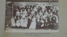 Grande Photo Mariage DUCORBIER - KLEIN En 1898 A MOURMELON LE PETIT  ......... Phot-3 - Ancianas (antes De 1900)