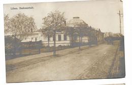 """WW1. LIBAU. BADEANSTALT.  Cachet """"gouvernement Labau Kompagnie Metzig""""  1915 - Litauen"""