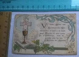 ANNO 1904 TESSERA COMUNIONE PASQUALE S.PROCOLO BOLOGNA - Imágenes Religiosas