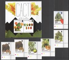 VV586 MONTSERRAT FLORA NATURE FLOWERS CACTUS CACTI OF THE CARIBBEAN TREES FRUITS 1SET+1KB MNH - Cactusses