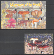 VV590 MONTSERRAT FLORA NATURE MUSHROOMS OF THE WORLD 1KB+1BL MNH - Mushrooms