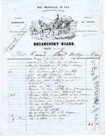 Facture Du Driancourt-Biard, Bourrellerie, Magny (Seine Et Oise) 1861. - 1800 – 1899