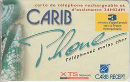 RÉUNION - PHONE CARD   ***  CARIB PHONE *** - Réunion
