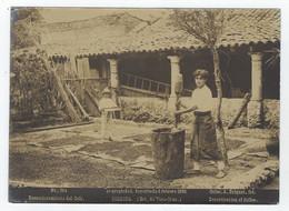 Photo  A. BRIQUET 264 - MEXICO - CORDOBA (Estado De Vera-Cruz) - Descortezamiento Del Cafe 1896 - Old (before 1900)