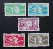 1943 - FRANCE LIBRE (SERIE COMPLETE) - N°1 à 5 Oblitérés - Liberation