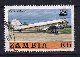 Zambia: 1987   20th Anniv Of Zambian Airways    SG526   K5     Used - Zambia (1965-...)