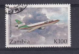 Zambia: 1992   60th Anniv Of Airmail Service    SG707   K100     Used - Zambia (1965-...)