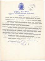 1974 ISCHIA LETTERA A FIRMA ED INTESTATA VESCOVO PARODI - Zonder Classificatie
