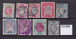 South Africca King George V -  9 Revenue Stamps To 5/- - Altri