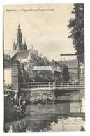 Aarschot - Ophaalbrug Demereiland, Bridge, People - Old Belgium Postcard - Aarschot
