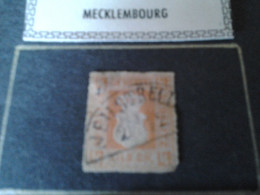 Mecklembourg Strelitz 1864 Un Quart De Silber Grochen - Mecklenbourg-Strelitz