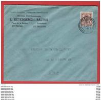 TP 568 Petit Sceau Surchargé Sur L (tarif Imprimé) Pub Keyenbergh-Baltus ST TRUIDEN ST TROND  1942 - Briefe U. Dokumente