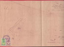 258110 / Bulgaria 1950 - 10+20 Lv. Revenue Fiscaux , Project Of A House In The Village Of Dalgi Dol, Mihaylovgrad - Public Works