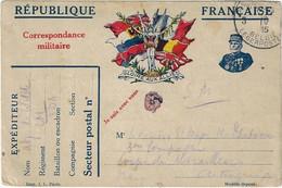 Postes Militaires Belgique Legerposterij 1915 Correspondance Militaire Républieke Française - Belgisch Leger
