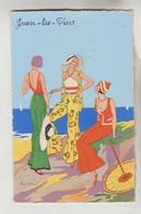 CPSM MODE PLAGE - Costumes Féminins D'été à JUAN LES PINS Alpes Maritimes - Moda