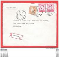 MOLENBEEK A 3 Poortman  + Paire  Lunettes  Recommandé Aangetekend  Sur Dvt Lettre 3 I 1956 - Briefe U. Dokumente