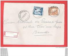 JOLIMONT  Poortman  + Lunettes  Recommandé Aangetekend  Sur Dvt Lettre 12 II 1955 - Briefe U. Dokumente