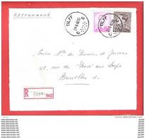 TILFF C  : Poortman + Lunettes  Recommandé Aangetekend  Sur Dvt Lettre  21 VI 1967 - 1953-1972 Brillen