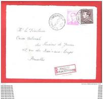 WAINAGE FARCIENNES A  : Poortman + Lunettes  Recommandé Aangetekend  Sur Dvt Lettre  11 XII 1967 - 1953-1972 Brillen