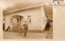 DC1419 - Ak Glashütte Fotokarte Echtfoto Karte Mann Mit Fahrrad Rad Uniform 1912 - Glashütte
