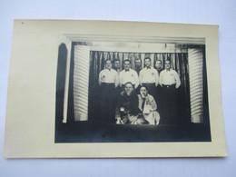Carte Photo THEATRE - Prisonniers LES COMPAGNONS DE LA CHANSON Spectacle Au STALAG XVIII A WOLFSBERG Autriche - War 1939-45