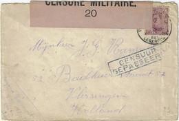 Postes Militaires Belgique Legerposterij 1917 'Censuur Gepasseerd' Censure Militaire 20 Zegel 20 C - Belgisch Leger