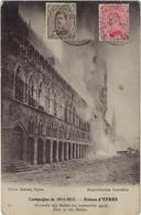 Postes Militaires Belgique Legerposterij 1917 Censure Militaire Cycliste 3e Bataillon Armée Belge En Compagne Ruines - Belgisch Leger
