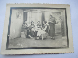 Carte Photo THEATRE - Scene Piece De Theatre Hommes Et Femmes STALAG XVIII A WOLFSBERG Autriche - War 1939-45