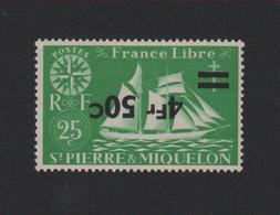 Faux Saint-Pierre Et Miquelon N° 321a Surcharge Renversée Gomme Sans Charnière - Nuovi