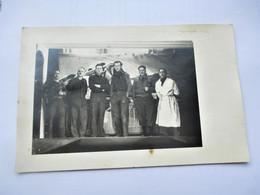 Carte Photo THEATRE - Scene Piece De Theatre Hommes  STALAG XVIII A WOLFSBERG Autriche - War 1939-45