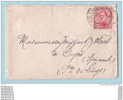 TP 138 Sur Petite Lettre Obl Fortune Bastogne  16 X 1919 - Cartas
