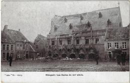 Postes Militaires Belgique Legerposterij 1915 -  1 Timbre 10 C Nieuport Les Halles Du XIV Siècle Nieuwpoort 1914 - Belgisch Leger