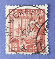 1948  -   BELGIO   -  VALORE  FRANCHI   1,35   - USATO - Usati