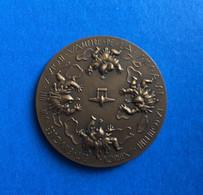 Medaille Aviation Bronze (4cm) Jacqueline Auriol Avion Vampire Record Du Monde . 12 Mai 1951 . - Obj. 'Remember Of'