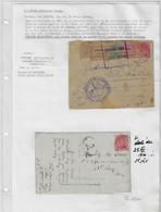 Postes Militaires Belgique 1916 - Cachets Militaires De Censure Française Pontarlier  'Ouvert Par L'Autorité Militaire - Belgisch Leger