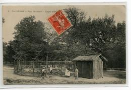 33 CAUDERAN  Carte RARE Zoo Parc Bordelais Cages D'Animaux Visiteurs Enfants Cycliste Et Cerceau 1911  écrite   D25 2018 - Altri Comuni