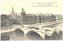 CPA - 75 - 4718. PARIS - Le Pont Saint-Michel Et Le Palais De Justice - Puentes