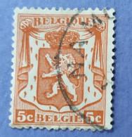 1935   -   BELGIO   -  VALORE  FRANCHI   5c    - USATO - Non Classificati