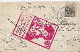 38934. Postal Impresos LERIDA 1912 A Vilanova Y Geltru. Vista Pintura Campo - Cartas