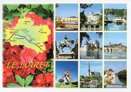 CPM Géographique - 45 LE LOIRET. Beaugency, Briare, Beauce, Pithiviers, Montargis - Multi Vues - TBE - Cartes Géographiques
