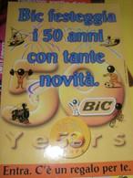 CARTELLO DI CARTONE PUBBLICITARIO 50° ANNIVERSARIO BIC - Other
