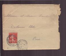 France, Enveloppe Du 11 Janvier 1912 Pour Paris - Lettres & Documents