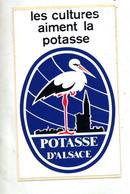 Autocollant La Potasse D'alsace Theme Cigogne - Autocollants