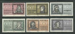 POLAND MNH ** 1094-1099 PERSONNALITES POLONAISES. TADEUSZ KOCIUSZKO/ NICOLAS COPERNIC. CASIMIR JAGELLON Roi Rois - Unused Stamps