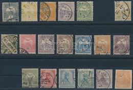 """O 1900 Turul Sor Lilásbarna 6f és 50f Nélkül, Hírlapbélyeggel, """"d"""" Számvízjelállás (~255.000) - Unclassified"""