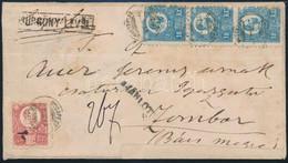 """1873 Réznyomat 5kr és 3 X 10kr Ajánlott Expressz Levélen """"BUDAPEST"""" - Zombor (a Levél Alul és Felül Kiegészítve, Restaur - Unclassified"""