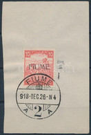 Fiume 1918 Fehérszámú Arató 10f M II, Kivágáson. Certificate: Bodor (Sassone EUR 16.000,-) - Unclassified