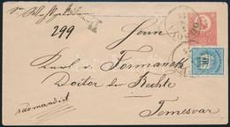 1875 Aug.7. Réznyomat 5kr Díjjegyes Ajánlott Levelezőlap Színesszámú 10kr Díjkiegészítéssel (apró Sarokhiba / Small Corn - Unclassified