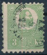 O 1871 Jó Minőségű Képbe Fogazott Kőnyomat 3kr Bélyeg (140.000) Sign: Engel - Unclassified